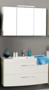 Held Möbel Waschtisch Set Florida 100 cm 2-teilig mit Vollauszügen in weiß hochglanz inkl. Mineralgussbecken in weiß 062.1.3101