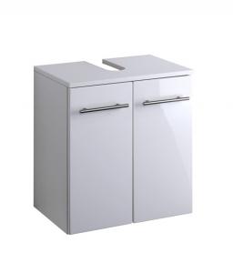 Held Möbel Waschbecken Unterschrank Parma in hochglanz weiß 084.2096