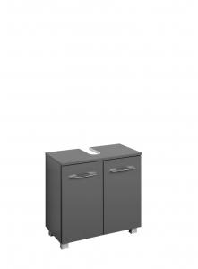Held Möbel Waschbecken Unterschrank Portofino 60 cm in anthrazit