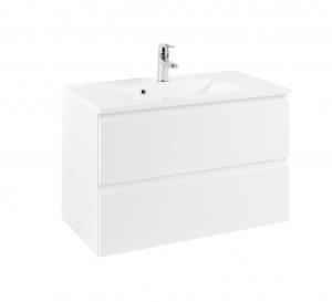 Held Möbel Waschtisch Cardiff in hochglanz weiß 80 cm breit inkl. Mineralgussbecken in weiß 098.1.3102
