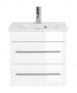 Emotion Villeroy und Boch Waschplatz Venticello in weiss hochglanz 50 cm mit Keramik Waschbecken in weiß IVENTICELLO50CM2000101DE