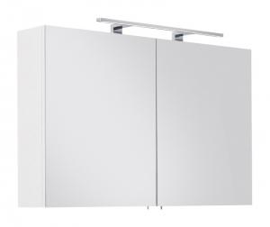 Posseik Möbel Spiegelschrank Viva 100 in weiß mit LED Beleuchtung und Steckdose VIVASPS100000101DE