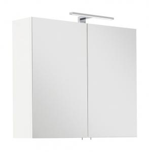 Posseik Möbel Spiegelschrank Viva 75 in weiß mit LED Beleuchtung und Steckdose VIVASPS75000101DE
