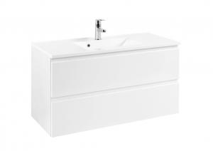 Held Möbel Waschtisch Cardiff in hochglanz weiß 100 cm breit inkl. Mineralgussbecken in weiß 101.1.3102