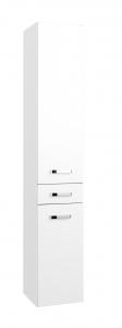 Held Möbel Seitenschrank Bologna in hochglanz weiß 30 cm breit
