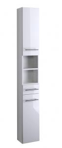 Held Möbel Seitenschrank Parma in hochglanz weiß 25 cm breit 140.2096