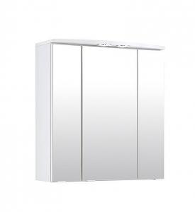Held Möbel Spiegelschrank Parma in Weiß 60 cm breit mit 2 LED Einbaustrahlern