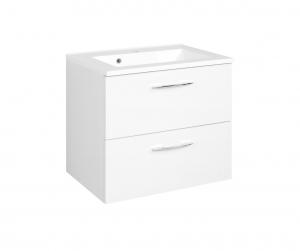 Held Möbel Waschtisch Portofino 60 cm in weiß inkl. Mineralgussbecken in weiß