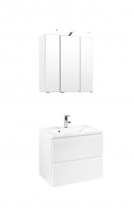 Held Möbel Waschtisch Set Cardiff 60 cm 2-teilig in hochglanz weiß inkl. Mineralgussbecken in weiß 359.1.3102