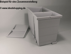 Sagemüller und Rohrer Abfallsammler Angolo mit 24 Litern Fassungsvermögen in grau