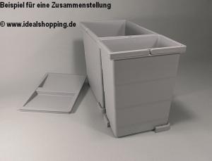 Sagemüller und Rohrer Abfallsammler Angolo mit 10 Litern Fassungsvermögen in grau