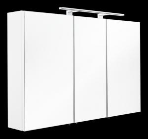 Posseik Spiegelschrank 5439 76 in weiß mit LED Aufbauleuchte