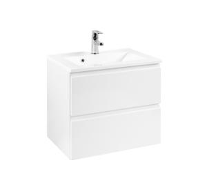 Held Möbel Waschtisch Cardiff in hochglanz weiß 60 cm breit inkl. Mineralgussbecken in weiß 559.3102