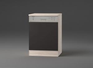 Optifit Jaka Türfront für Dunsthaube oder Geschirrspüler Faro T606APL-9 in anthrazit mit Arbeitsplatte