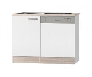 Optifit Jaka Spülenschrank Set mit Arbeitsplatte Genf SPGSSET-9 in weiß