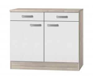 Küchen Unterschrank mit Arbeitsplatte Genf U106-9 in weiß