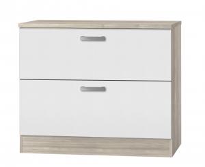 Küchen Schubladenunterschrank mit Arbeitsplatte Genf U126-9 in weiß