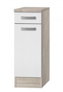 Küchen Unterschrank mit Arbeitsplatte Genf U306-9 in weiß