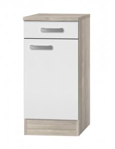 Küchen Unterschrank mit Arbeitsplatte Genf U406-9 in weiß