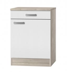 Küchen Unterschrank mit Arbeitsplatte Genf U606-9 in weiß