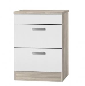 Küchen Schubladenunterschrank mit Arbeitsplatte Genf UC636-9 in weiß