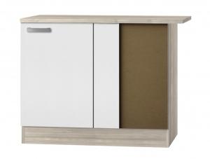 Küchen Eckunterschrank mit Arbeitsplatte Genf UEL106-9 in weiß