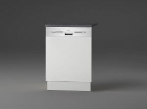 Optifit Jaka Türfront für Dunsthaube oder Geschirrspüler Lagos T606APL-9 in weiß mit Arbeitsplatte