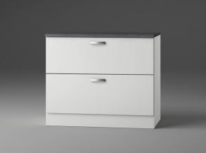 Optifit Jaka Schubladenunterschrank mit Arbeitsplatte Lagos U126-9 in weiß