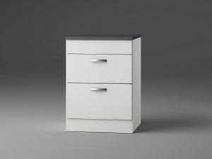 Optifit Jaka Schubladenunterschrank mit Arbeitsplatte Lagos UC636-9 in weiß