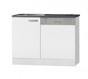 Optifit Jaka Spülenschrank Set mit Arbeitsplatte Oslo SPGSSET-9 in weiß