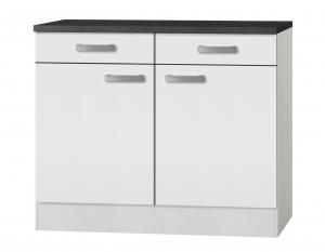 Küchen Unterschrank mit Arbeitsplatte Oslo U106-9 in weiß