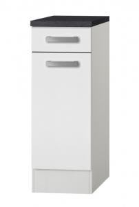 Küchen Unterschrank mit Arbeitsplatte Oslo U306-9 in weiß