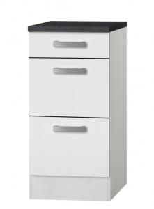 Küchen Schubladenunterschrank mit Arbeitsplatte Oslo U436-9 in weiß