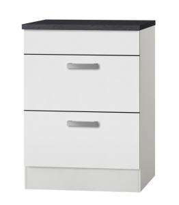 Küchen Schubladenunterschrank mit Arbeitsplatte Oslo UC636-9 in weiß