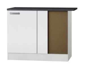 Küchen Eckunterschrank mit Arbeitsplatte Oslo UEL106-9 in weiß