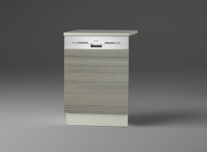 Optifit Jaka Türfront für Dunsthaube oder Geschirrspüler Vigo T606APL-9 in Pinie Nachbildung mit Arbeitsplatte