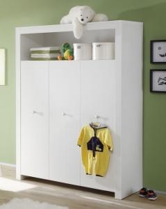 Trendteam Baby Kleiderschrank Olivia 130 cm in weiß 155361301