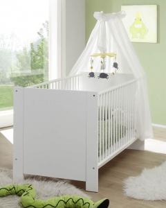Trendteam Baby Kinder Bett Olivia in weiß 155362001