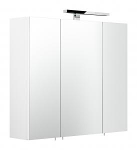 Posseik Spiegelschrank 5422 76 in weiß mit LED Beleuchtung