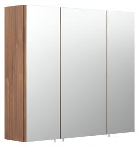 Posseik Spiegelschrank 5484 78 Salona / Rima 70 cm breit in Wallnuss Nachbildung mit 3 Türen