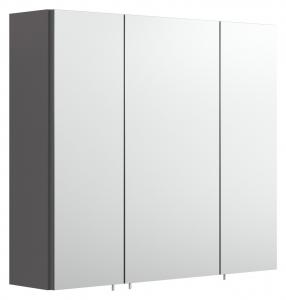 Spiegelschrank 5484 84 Salona / Rima 70 cm breit in Anthrazit mit 3 Türen