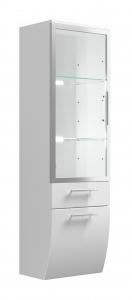 Posseik Hochschrank Salona 5614 76 mit Glastür in weiß hochglanz