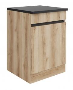 Küchen Spülenunterschrank mit Arbeitsplatte Kaya SP606-0+ in Wildeiche Nachbildung 60 cm breit