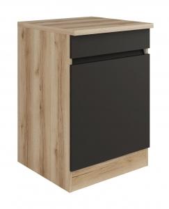 Küchen Spülenunterschrank mit Arbeitsplatte Noah SP606-0+ in anthrazit 60 cm breit