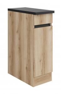 Küchen Unterschrank mit Arbeitsplatte Kaya U306-0+ in Wildeiche Nachbildung 30 cm breit