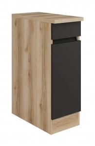 Küchen Unterschrank mit Arbeitsplatte Noah U306-0+ in anthrazit 30 cm breit