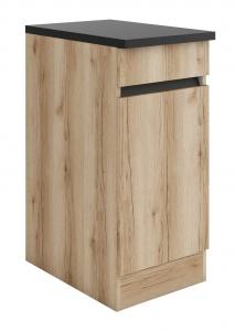 Küchen Unterschrank mit Arbeitsplatte Kaya U406-0+ in Wildeiche Nachbildung 40 cm breit