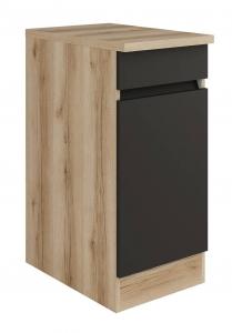 Küchen Unterschrank mit Arbeitsplatte Noah U406-0+ in anthrazit 40 cm breit