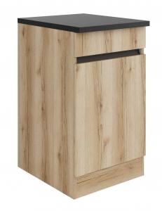Küchen Unterschrank mit Arbeitsplatte Kaya U506-0+ in Wildeiche Nachbildung 50 cm breit