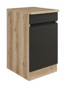 Küchen Unterschrank mit Arbeitsplatte Noah U506-0+ in anthrazit 50 cm breit